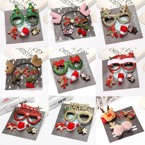 Christmas glasses hairpin decorations wholesale Nihaojewelry NHGAL413215's discount tags