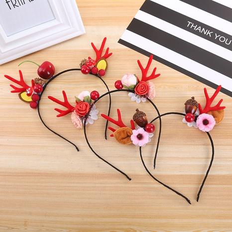 Christmas deer apple antler headband wholesale Nihaojewelry NHGAL413216's discount tags