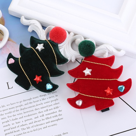 Christmas Children's Tree Duckbill Clip Wholesale Nihaojewelry NHGAL413218's discount tags