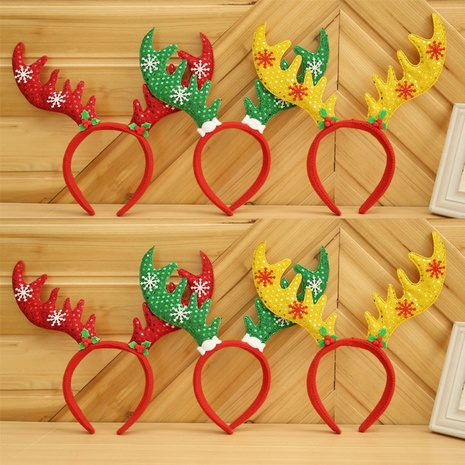 Christmas sequins star antler headband wholesale Nihaojewelry NHGAL413222's discount tags