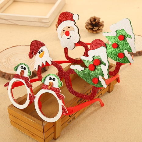 Christmas sequined plastic glasses frame wholesale Nihaojewelry NHGAL413225's discount tags