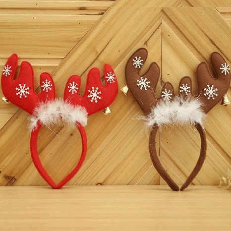 Christmas antlers with bells head buckle wholesale Nihaojewelry NHGAL413228's discount tags
