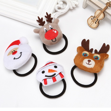 Christmas elk doll children rubber band wholesale Nihaojewelry NHGAL413231's discount tags
