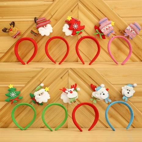 Christmas bear tree snowman springs double-ended headband wholesale Nihaojewelry NHGAL413232's discount tags