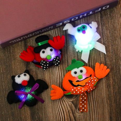 Halloween Illuminated Pumpkin Bat Brooch Wholesale Nihaojewelry NHGAL413279's discount tags