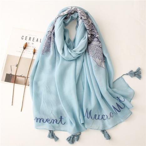 ethnic blue big wings sunscreen silk scarf beach shawl wholesale Nihaojewelry NHGD413337's discount tags