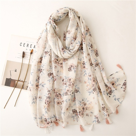 ethnic floral yarn sunscreen shawl wholesale Nihaojewelry NHGD413338's discount tags