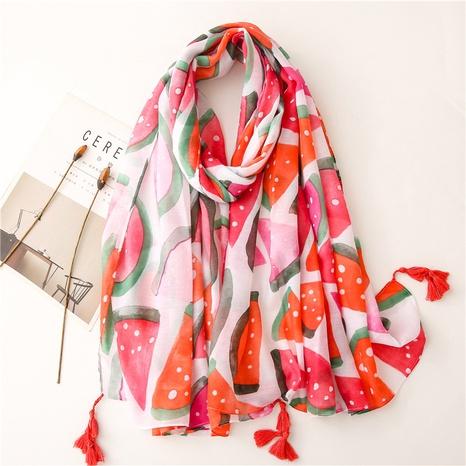 fashion clashing color watermelon sunscreen shawl wholesale Nihaojewelry NHGD413340's discount tags