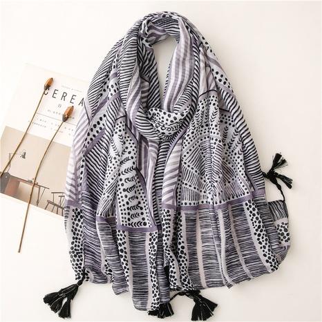 retro black geometric gauze sunscreen shawl wholesale Nihaojewelry NHGD413342's discount tags