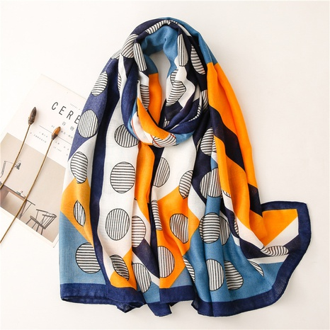 fashion clashing color stripe round sunscreen shawl wholesale Nihaojewelry NHGD413343's discount tags