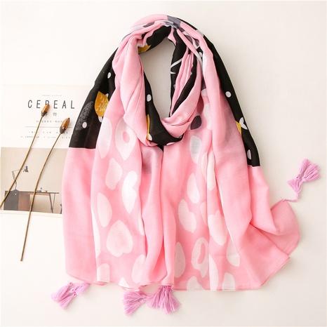 Korean pink cat sunscreen beach silk scarf wholesale Nihaojewelry NHGD413345's discount tags