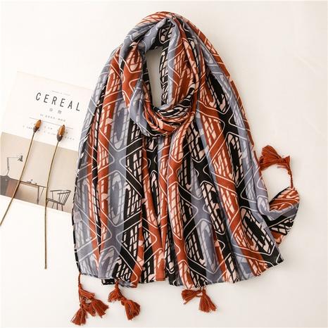 ethnic graffiti blue gauze sunscreen shawl wholesale Nihaojewelry NHGD413346's discount tags