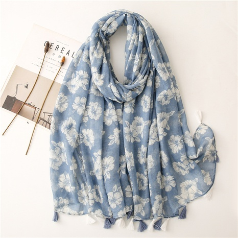ethnic white khaki flower sunscreen shawl wholesale Nihaojewelry NHGD413347's discount tags