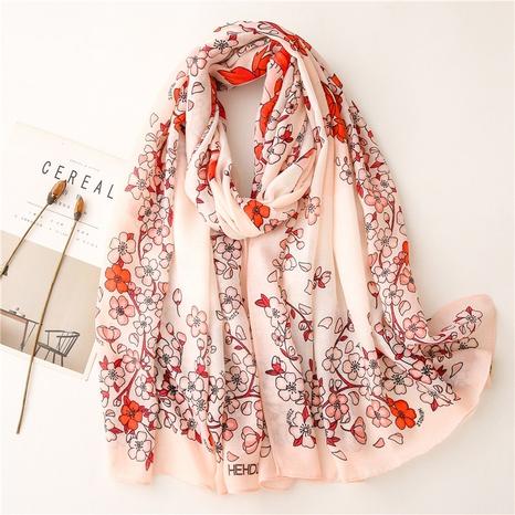 retro pink plum flower sunshade shawl wholesale Nihaojewelry NHGD413350's discount tags
