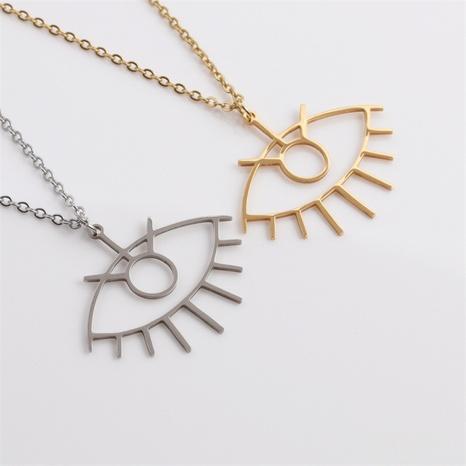 Al por mayor joyería colgante de ojo de diablo collar de acero inoxidable nihaojewelry NHYL413811's discount tags