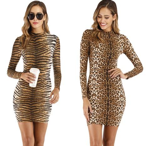 vestido de manga larga con estampado de tigre sexy al por mayor Nihaojewelry NHUO414701's discount tags