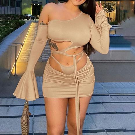 vestido irregular superior de un solo hombro hueco de moda al por mayor Nihaojewelry NHZN414694's discount tags