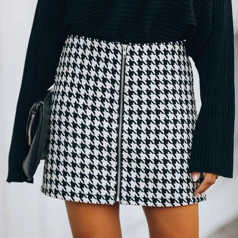 falda de ziper de pata de gallo de moda al por mayor Nihaojewelry NHIS414691's discount tags