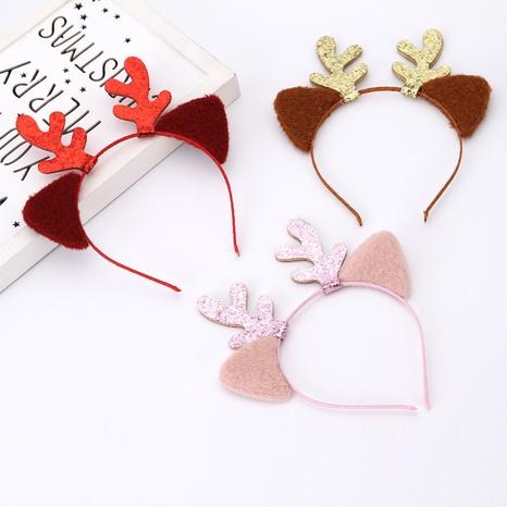 Christmas  gauze children's cat ears headband hairpin wholesale Nihaojewelry NHGAL414193's discount tags