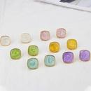 Korean retro geometric glossy colorful resin earrings wholesale nihaojewelry NHBP414214