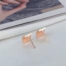 Korean simple color oil drop geometric smooth earrings wholesale nihaojewelry NHBP414216