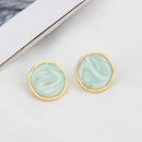 retro simple oil drop glossy multicolor earrings wholesale nihaojewelry NHBP414219