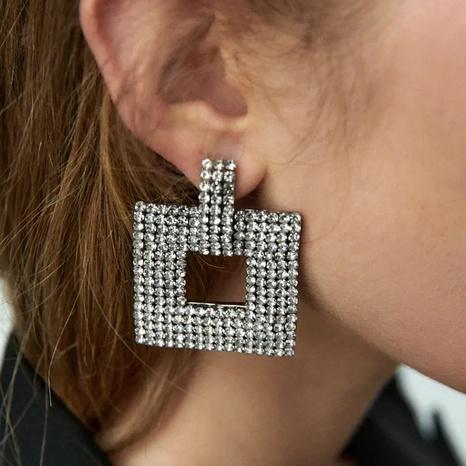 retro geometric square rhinestone earrings wholesale Nihaojewelry NHLA414366's discount tags