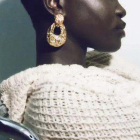 retro water drop shape irregular earrings wholesale Nihaojewelry NHLA414367's discount tags
