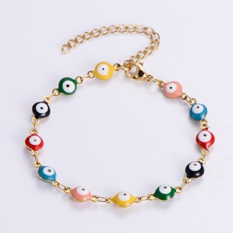 diablo ojo redondo pulsera de acero inoxidable con cuentas al por mayor nihaojewelry NHON414371's discount tags