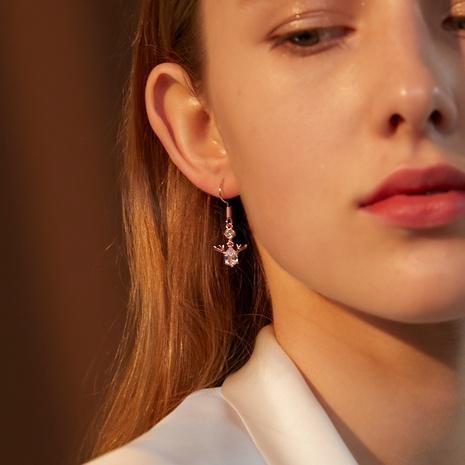 Christmas crystal deer earrings wholesale Nihaojewelry NHDP414616's discount tags
