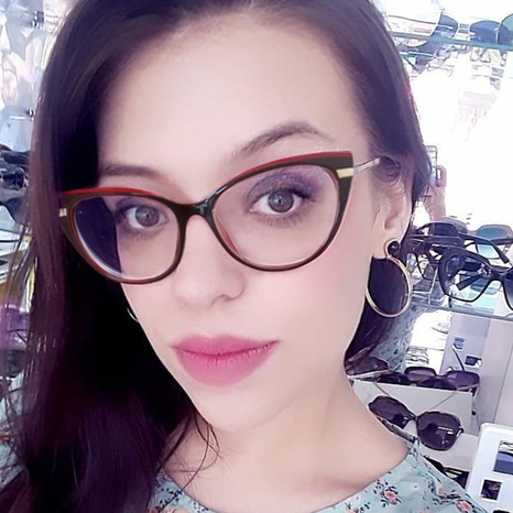 Mode Kontrastfarbe Rahmen Anti-Blaulicht Frühling Bein Brille Großhandel nihaojewelry NHFY414766's discount tags