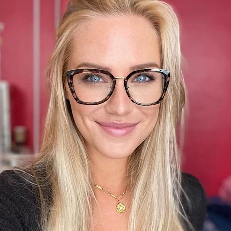 Mode zweifarbiger Rahmen Frühling Tempel Leopard Brille Großhandel nihaojewelry NHFY414768's discount tags
