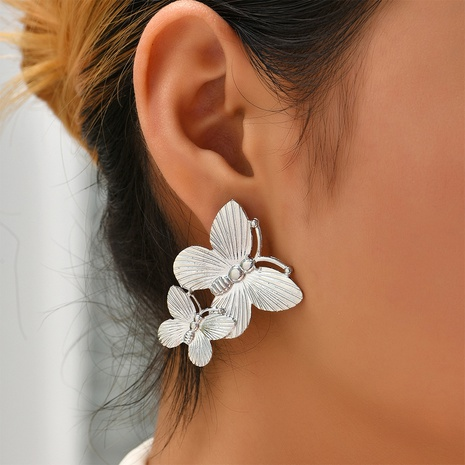 fashion double butterfly earrings wholesale Nihaojewelry NHYAO414844's discount tags