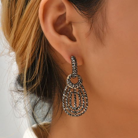 simple hollow geometric earrings wholesale Nihaojewelry NHYAO414845's discount tags