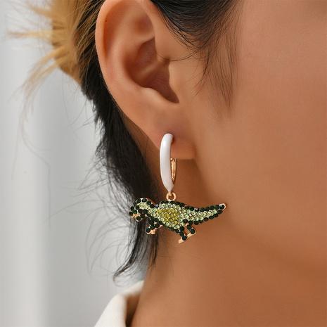 fashion little dinosaur earrings wholesale Nihaojewelry NHYAO414846's discount tags