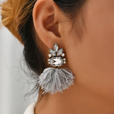 retro wool tassel earrings wholesale Nihaojewelry NHYAO414849's discount tags