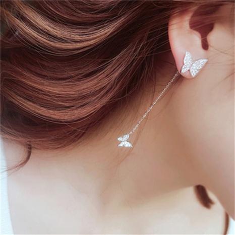 fashion butterfly long tassel earrings wholesale Nihaojewelry NHLON414553's discount tags