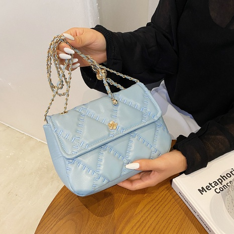 solid color chain messenger single shoulder portable bag wholesale Nihaojewelry NHUA397385's discount tags