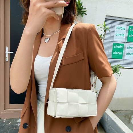 creative woven messenger shoulder square bag wholesale Nihaojewelry NHUA397404's discount tags