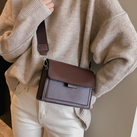 wide shoulder strap single shoulder messenger small square bag  wholesale Nihaojewelry NHUA397409's discount tags