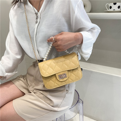 rhombus chain lock single shoulder messenger bag wholesale Nihaojewelry NHUA397410's discount tags