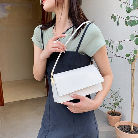 solid color texture one shoulder underarm bag wholesale Nihaojewelry NHUA397411's discount tags