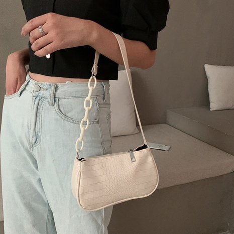 wholesale milk tea color acrylic chain underarm bag Nihaojewelry NHUA397414's discount tags