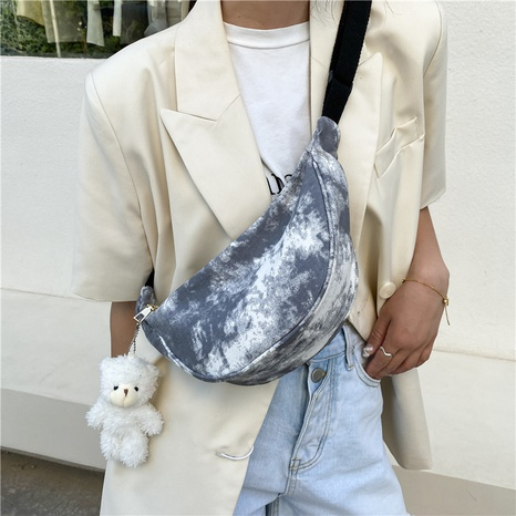 Korean Style Hit Color Shoulder Diagonal Canvas Bag wholesale Nihaojewelry NHUA397416's discount tags