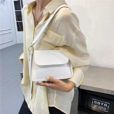 wholesale Korean solid color flip messenger bag Nihaojewelry NHUA397453's discount tags