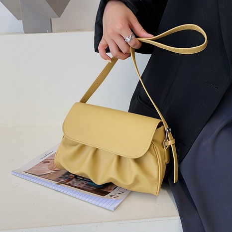 wholesale simple solid color fold shoulder square bag Nihaojewelry NHUA397457's discount tags