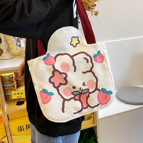 cute cartoon rabbit large-capacity canvas bag wholesale Nihaojewelry NHLH397606's discount tags