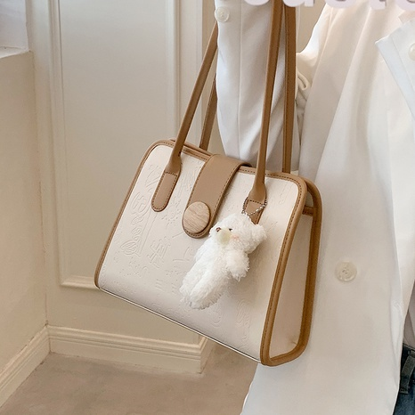texture fashion one-shoulder armpit small square bag wholesale Nihaojewelry NHLH397631's discount tags