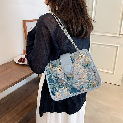 fashion Monet water lily printed shoulder messenger bag wholesale Nihaojewelry  NHLH397636's discount tags