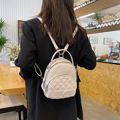 rhombus multifunctional solid color one-shoulder portable backpack wholesale Nihaojewelry NHLH397654's discount tags